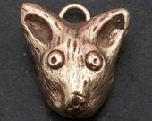 Fox pendant, cast bronze