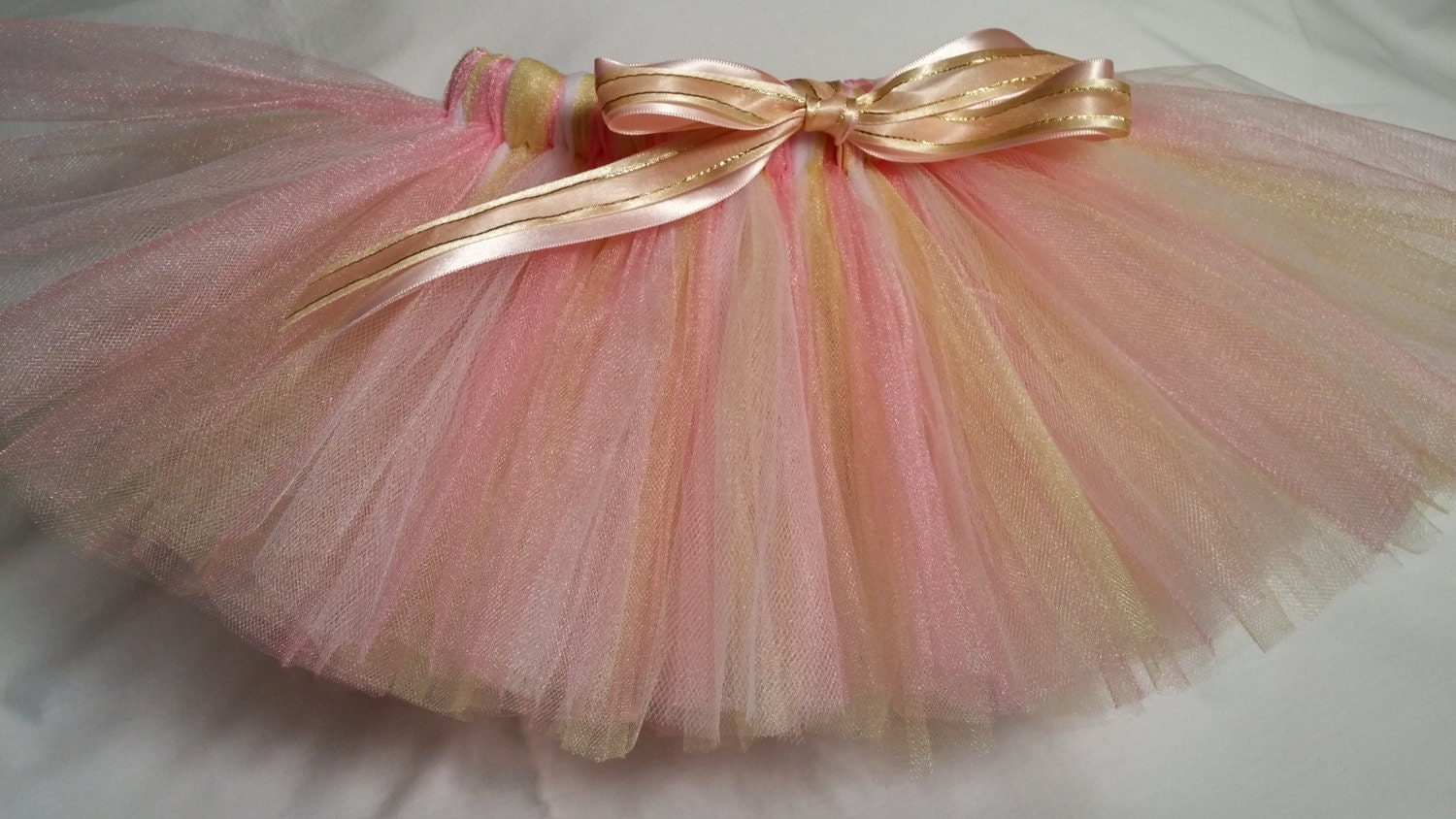 Pink white gold tutu and infant baby