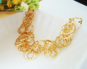 266. Ring bunch bracelet - Gold plated
