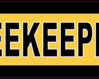 10''x3'' Beekeeper Bumper Sticker Bees Car Decal Stickers Window Decals(b-10-47)