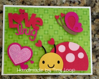 Love Bug Card 5 x 6.5 with Envelopes