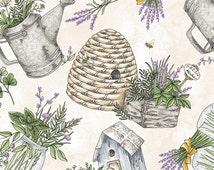 Gathered Herbs - Cream by Maywood Studio (8333-E) Fabric Yardage