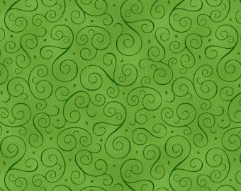 Christmas Scrolls - Green (9931-66) by Henry Glass Fabrics Cotton Fabric Yardage