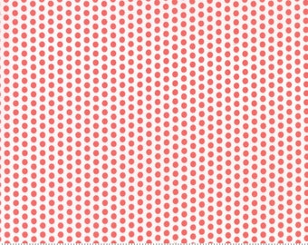 SUNDROPS, Corey Yoder, Moda Fabrics, 29016-17, Dark Coral Dots, Sundrops fabric, Sundrops Collection, Little Miss Shabby