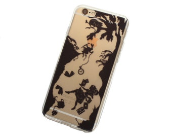 Falling Alice Phone Case for iPhone 5, SE, 6, 6 Plus, 7, 7Plus, 8, 8 Plus and X. TPU or Wood Options