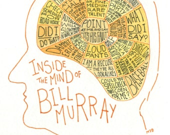 Inside the Mind Of... Bill Murray A5 Print