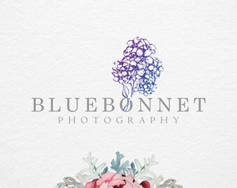 Flower Premade logo , Photography logo and Watermark