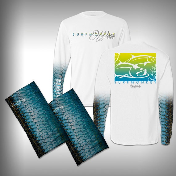 Fish scale sleeve performance shirt and matching by for Fish scale shirt