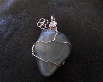 Wire Wrapped Black Moonstone
