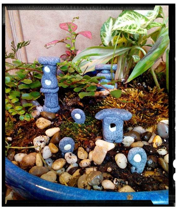 Set of 6 fairy garden miniature zen garden decorations pagodas - Zen garten miniatur set ...