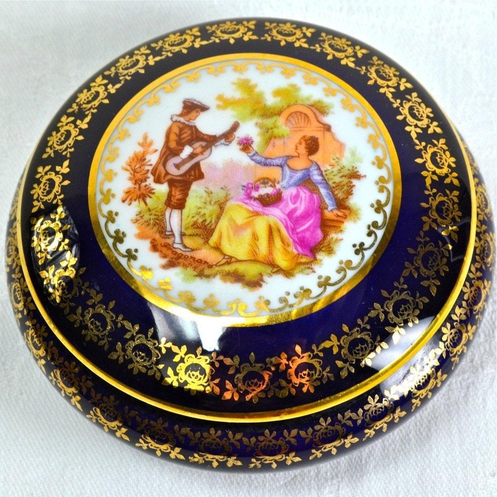 limoges box lidded ring dish porcelain trinket box. Black Bedroom Furniture Sets. Home Design Ideas