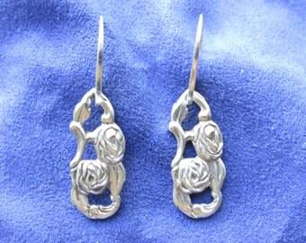 Swedish Spoon Earrings,Spoon Jewelry,Silverware Earrings,Silverware Jewelry,Silver,Earrings,Spoon Earrings,Silverspoon,Sterling,Gifts,E0280