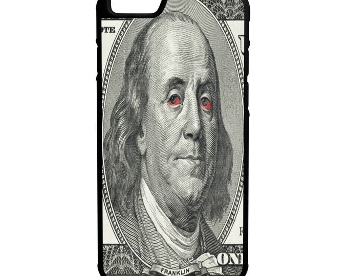 Ben Franklin Red Eyes  iPhone Galaxy Note HTC LG Hybrid Rubber Protective Case