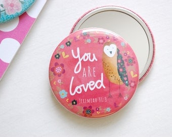 You Are Loved Pocket Mirror
