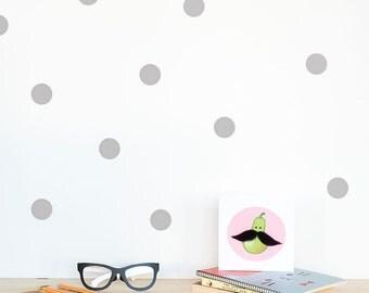 Polka dots Wall decal Silver / Wall Dots Home decor / Polka dot wall Nursery decor / Pink Mint Yellow Black White Dots Vinyl Sticker