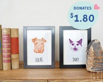 Custom Art Print of Your Pet
