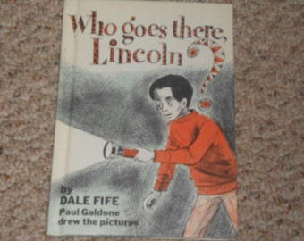 "Vintage Children's Book ""Who goes there, Lincoln?"""