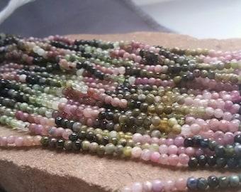 "Tourmaline Beads Tiny 2.5mm Tourmaline Spheres Tourmaline Round Beads Gemstone Sphere Ball Beads 14"" Strand  Free Ship Tormalina TMXD0A0002"