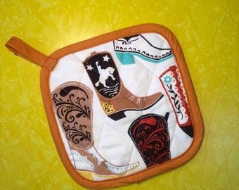 Kitschy Cowgirl Boot Pot Holder