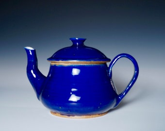 Stoneware Brilliant Blue Teapot