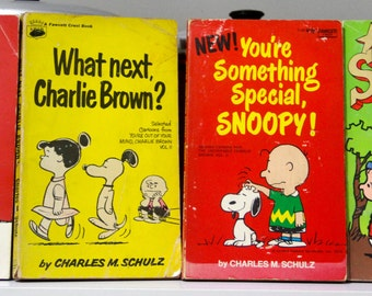 Classic Charlie Brown, Snoopy, Peanuts - 4 Paperbacks from 1967 - 1988