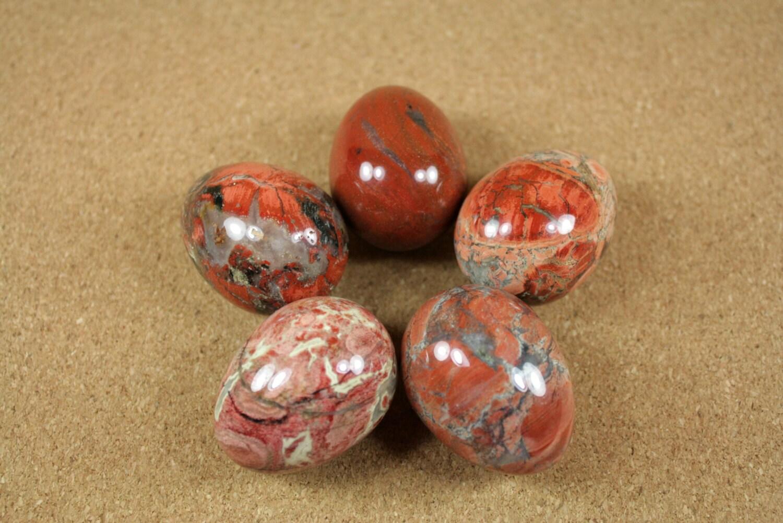 gemstone eggs brecciated jasper egg orange ivory