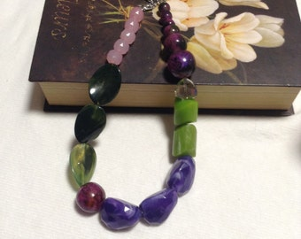 Frutabomba green purple necklace