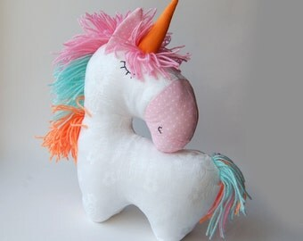 Sewing pattern Unicorn, stuffed horse toy for kids, pdf tutorial DIY