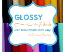 1 Sheet 12x12 inch Craft & Hobby Vinyl *OVER 30 COLORS* works w/all craft machines and die cutters adhesive backing professional quality