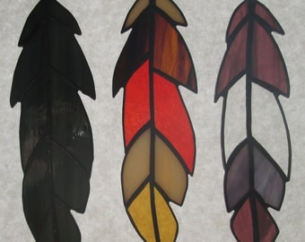 Single Stained Glass Feathers  *** New Colors!  ***
