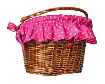 Polka Pink, Water-Repellent Basket Cover
