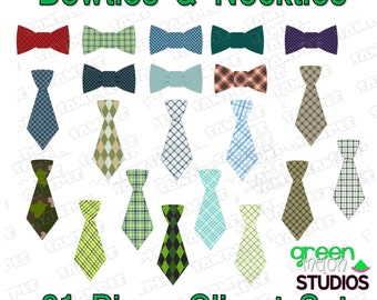 Bowtie Clipart Necktie clipart bow ties neck ties boy clipart 21 ties INSTANT DOWNLOAD UPrint  by greenmelonstudios