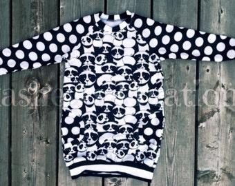 Size 3/4 Panda Raglan Pocket Dress