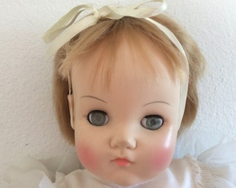 Adorable Large Madame Alexander Doll - Mommies Pet - Baby Doll - Soft Body - Collectable Doll - Box -  Blonde Blue Eyes -