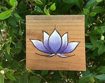 Purple Lotus Wall Hanging