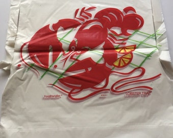 "50 ct. Printed Adult Poly Lobster Bibs w 3"" Catch Pocket"