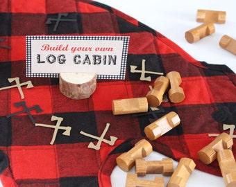 Lumberjack Confetti, Axe Confetti, Lumberjack Birthday Party, 100 pieces