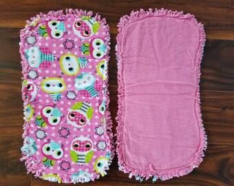 Owl Contoured Burp Cloth, Owl themed nursery burp cloth, baby shower gift