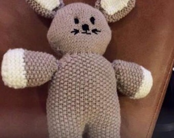 Knitted baby toys/teddies - bunny - handmade to order