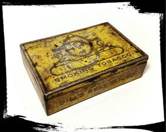 Vintage Dill's Best Smoking Tobacco Tin / J.G. Dill Co / Collectible Tobacciana / Storage Tin/Tin Box/Best Gift Idea/Primitive Decor/ F160