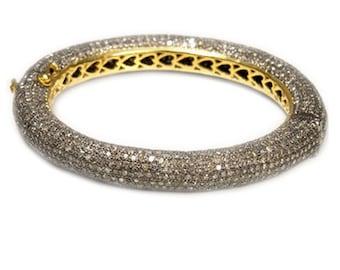 Victorian 24.80 ct Rose Cut Diamond Bracelet, Free Shipping worldwide flat 25% discount use coupon happybuying.