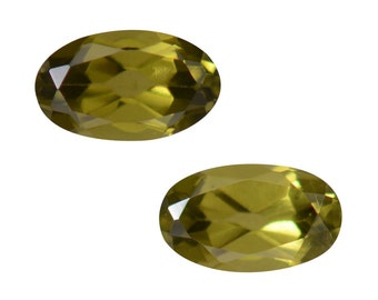 Italian Idocrase Set of 2 Oval Cut Faceted Loose Gemstones 1A Quality 5x3mm TGW 0.50 cts.