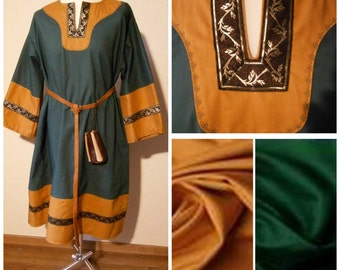 Medieval Tunic Cotton Tunic for Men Viking LARP