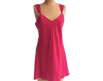90's Pink Silk Cami Slip Dress