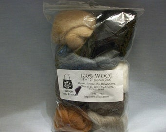 Sale***Wistyria 100% Wool for Roving #W892R Furry Friends, Wool, Roving Wool, Crafting Wool