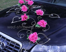 Pink Roses Wedding Car Deco Kit Artificial Roses DEK1020 HIT !