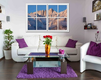 Mt Whitney 'Window with a View' - Vinyl Wall Hanging - Only 14.95