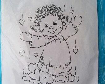 Bildmalarna unmounted rubber stamp - Tossea with Hearts