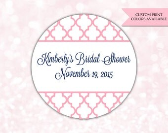 Bridal shower stickers - Bridal shower labels - Bridal shower favor stickers (RW019)