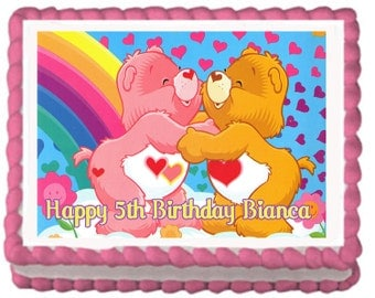 Care Bears Edible Cake Topper with FREE Personalization